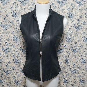 Nine West Jackets & Coats - Soft & Supple Nine West Double Zip Leather Vest